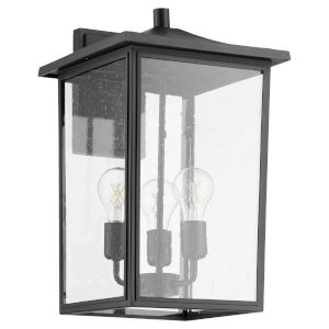 Riverside Noir Three-Light 11-Inch Outdoor Wall Mount