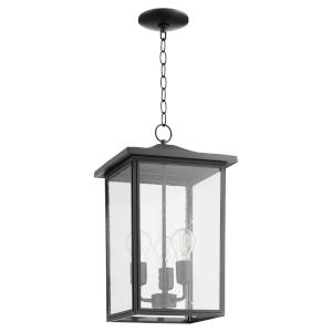 Riverside Noir Three-Light Outdoor Pendant
