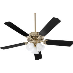 Capri X Aged Brass 52-Inch Three-Light Ceiling Fan