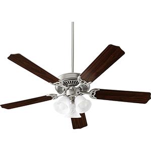 Capri X Satin Nickel 52-Inch Three-Light LED Ceiling Fan