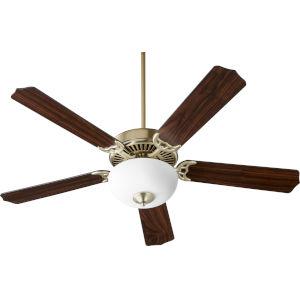 Capri VIII Aged Brass 52-Inch Two-Light Ceiling Fan