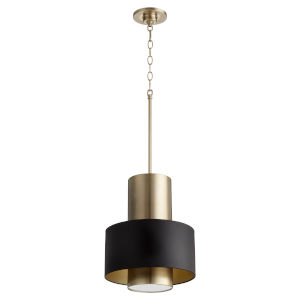 Noir and Aged Brass One-Light Pendant