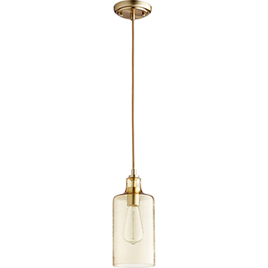 Aged Brass One-Light Mini Pendant