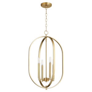 Collins Aged Brass 16-Inch Four-Light Entry Pendant