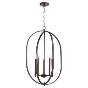 Collins Oiled Bronze 16-Inch Four-Light Entry Pendant