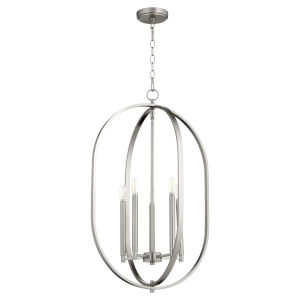 Collins Satin Nickel 20-Inch Five-Light Entry Pendant