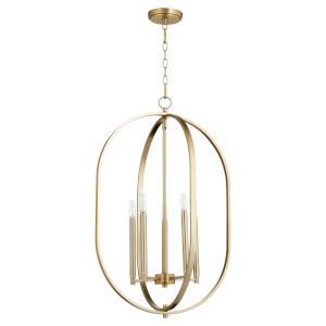 Collins Aged Brass 20-Inch Five-Light Entry Pendant