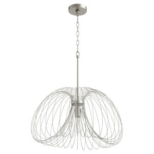 Brushed Silver One-Light 24-Inch Pendant