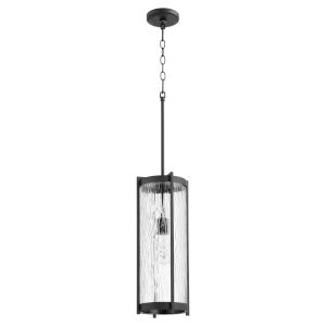 Noir and Clear Chisseled Glass One-Light 7-Inch Mini Pendant