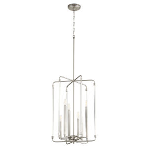 Optic Satin Nickel 16-Inch Six-Light Entry Pendant
