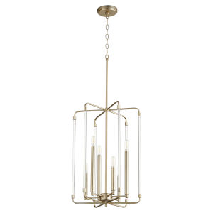 Optic Aged Brass 16-Inch Six-Light Entry Pendant