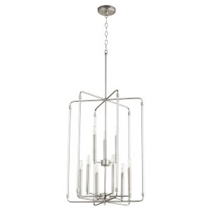 Optic Satin Nickel 20-Inch Nine-Light Entry Pendant