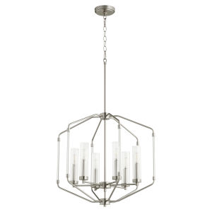 Citadel Satin Nickel 24-Inch Six-Light Pendant