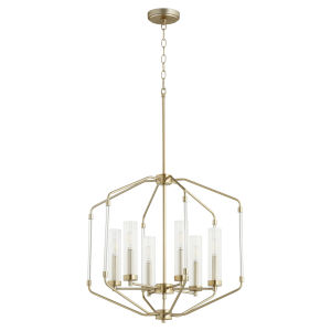 Citadel Aged Brass 24-Inch Six-Light Pendant