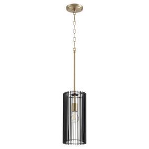 Finura Aged Brass One-Light 7-Inch Mini Pendant