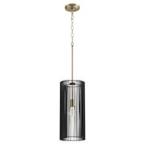 Finura Aged Brass One-Light 8-Inch Mini Pendant