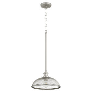 Omni Satin Nickel 12-Inch One-Light Pendant