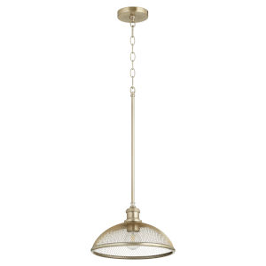 Omni Aged Brass 12-Inch One-Light Pendant