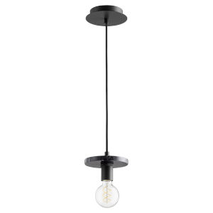 Noir and Black Marble One-Light Mini Pendant