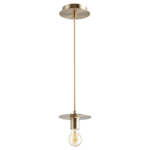 Aged Brass One-Light 6-Inch Mini Pendant