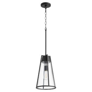 Noir and Clear One-Light Mini Pendant