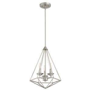 Bennett Satin Nickel 13-Inch Three-Light Pendant