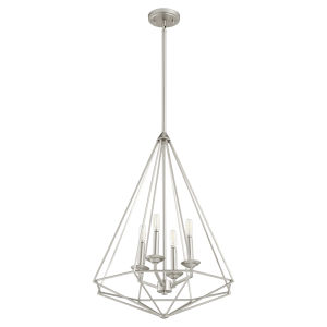 Bennett Satin Nickel 20-Inch Four-Light Pendant