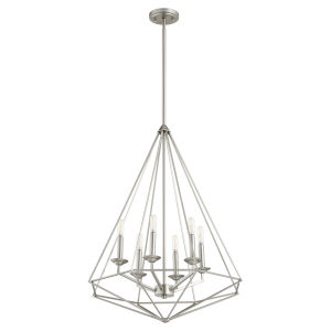 Bennett Satin Nickel 24-Inch Six-Light Pendant