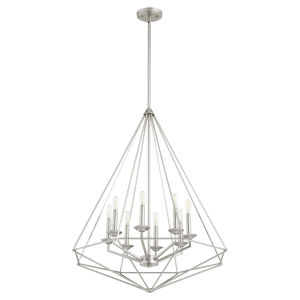 Bennett Satin Nickel 29-Inch Eight-Light Pendant