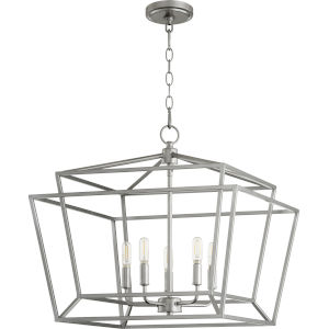 Monument Classic Nickel Five-Light Pendant