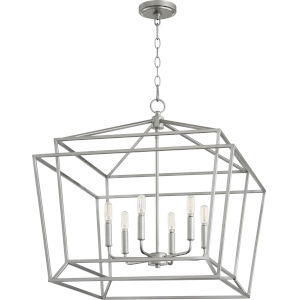 Monument Classic Nickel Six-Light Pendant