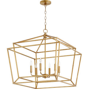 Monument Gold Leaf Six-Light Pendant