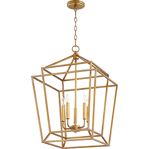 Monument Gold Leaf Five-Light Pendant