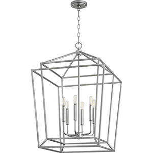 Monument Classic Nickel 21-Inch Six-Light Pendant