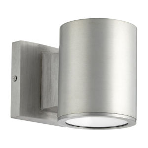 Cylinder Brushed Aluminum LED Outdoor Wall Mount