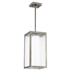 Maestro Weathered Zinc Three-Light LED Outdoor Pendant