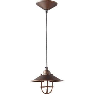 Oiled Bronze 7.5-Inch One-Light Mini Pendant