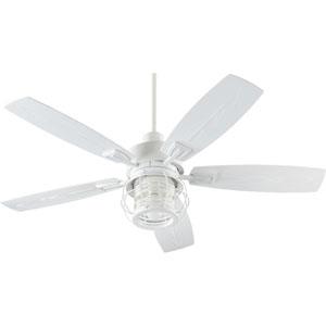 Galveston Studio White One-Light Patio Fan