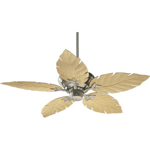 Monaco Satin Nickel 52-Inch Patio Fan