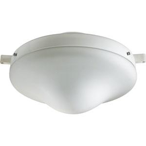 One-Light White Patio Light Kit