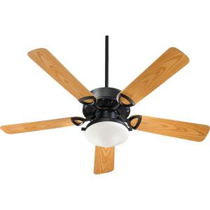 Estate Two-Light Matte Black 52-Inch Patio Fan