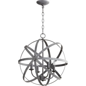 Celeste Zinc 19-Inch Four-Light Globe Pendant