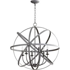 Celeste Zinc 25.5-Inch Six-Light Globe Pendant