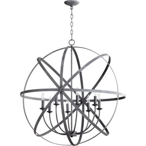 Celeste Zinc 33-Inch Eight-Light Globe Pendant