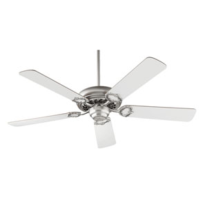 Monticello Satin Nickel Five Blade Ceiling Fan