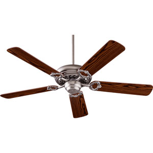Monticello Satin Nickel 52-Inch Five Blade Ceiling Fan