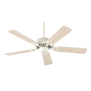 Monticello Antique White 52-Inch Five Blade Ceiling Fan