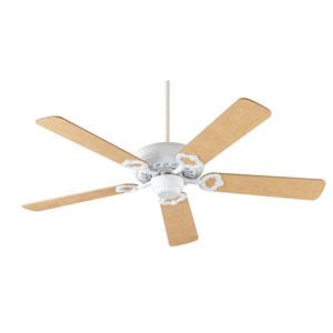 Monticello Studio White 52-Inch Five Blade Ceiling Fan
