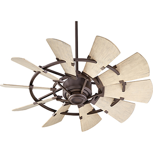 Quorum International Windmill Galvanized 72 Inch Ceiling
