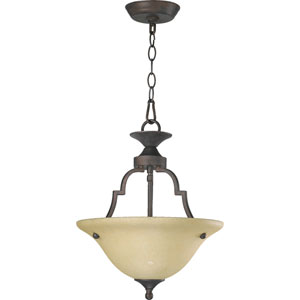 Coventry Two-Light Toasted Sienna Convertible Pendant